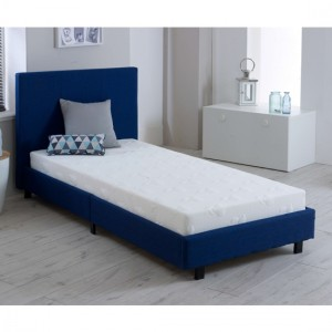 Prado Fashion Fabric Upholstered Single Bed In Blue