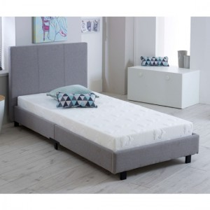 Prado Fashion Fabric Upholstered Single Bed In Grey