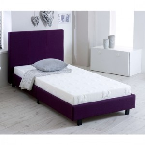 Prado Fashion Fabric Upholstered Single Bed In Purple