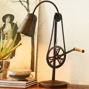 Preon Cycle Chain Stand Table Lamp In Black