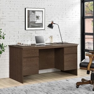 Presley Executive Wooden Computer Desk In Cherry Oak