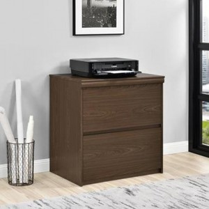 Presley Lateral Wooden Office Storage Cabinet In Cherry Oak