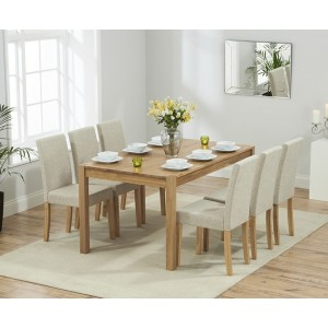 Enmore 150cm Extending Dining Set with 6 Maiya Chairs