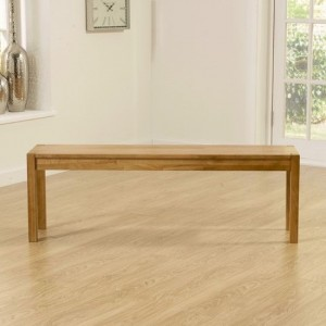 Promo Large Dining Bench In Solid Oak