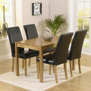Promo Rectangular Extending Dining Set With 4 Chairs