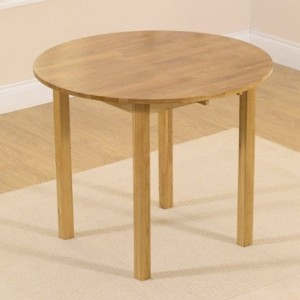 Promo Round Drop Leaf Extending Dining Table In Oak