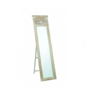 Provence Tall Bedroom Mirror In Weathered Oak Wooden Frame