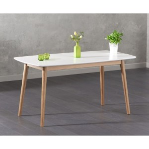 Weinstein Dining Table Rectangular In Solid Oak And White