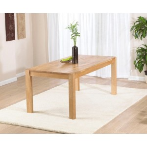 Chennai Rectangular Dining Table In Solid Oak In 120cm