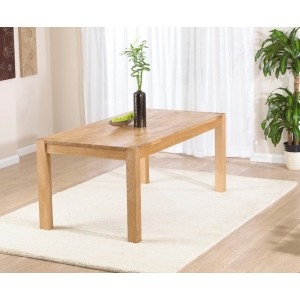 Chennai Rectangular Dining Table In Solid Oak In 150cm