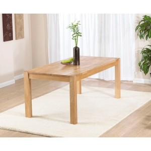 Chennai Rectangular Dining Table In Solid Oak In 180cm