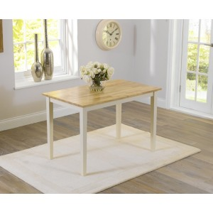 Valleverd Solid Hardwood & Painted 115cm Dining Table