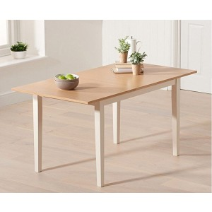 Kaylen Extending Dining Table In Oak And Cream Finish