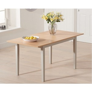 Kaylen Extending Dining Table In Oak And Grey Finish