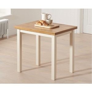Cristian Extending Dining Table In Light Oak And Cream Finish
