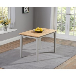 Valleverd Solid Hardwood & Painted Oak & Grey 115cm