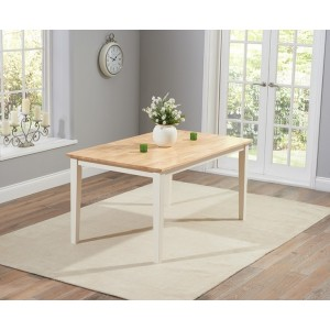 Lucey Oak & Cream Solid Hardwood & Painted 150cm