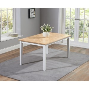 Lucey Oak & White Solid Hardwood & Painted 150cm