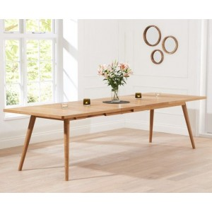 Riviera Wooden Large Extendable Dining Table In Solid Oak
