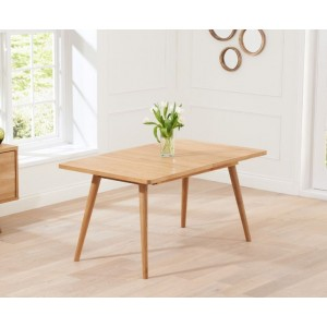 Riviera Wooden Extendable Dining Table In Solid Oak