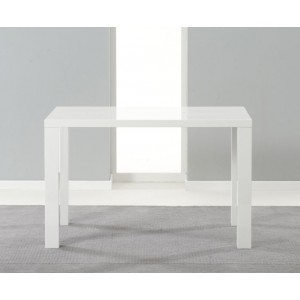 Millicent 120cm Dining Table In White High Gloss