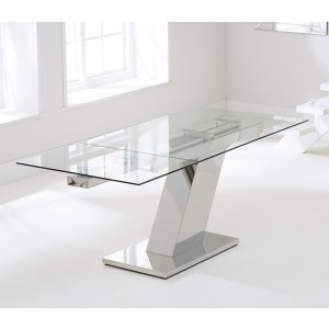 Keyshawn 140cm Glass Extending Dining Table