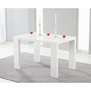 Prague Dining Table Rectangular Small In White High Gloss