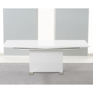 Durham Extendable Dining Table In White Gloss And Chrome Base