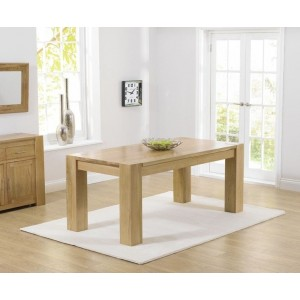 Bristol Rectangular Dining Table In Solid Oak In 180cm