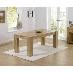 Bristol Rectangular Dining Table In Solid Oak In 220cm