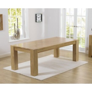 Bristol Rectangular Dining Table In Solid Oak In 300cm