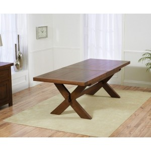 Hammersmith Extendable Wooden Dining Table Rectangular In Dark Oak