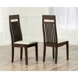 Monte Carlo Dining Chair In Cream With Wooden Frame In A Pair