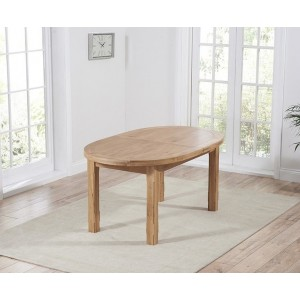 Maison Oval Extending Dining Table In Solid Oak