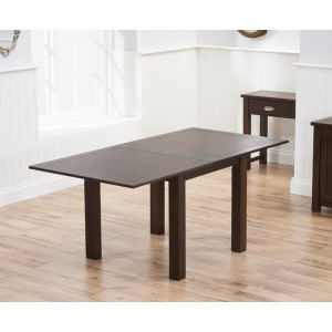 Inglewood 90CM Wooden Flip Top Oak Extending Dining Table