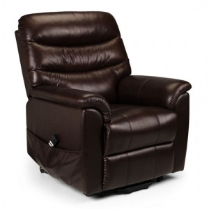 Pullman Faux Leather Rise And Recline Chair In Brown