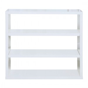 Puro Wooden Bookcase In White High Gloss Woth 2 Shelves