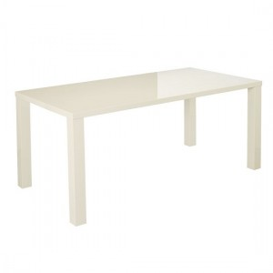 Puro Wooden Coffee Table In Cream High Gloss
