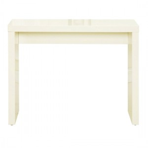 Puro Wooden Console Table In Cream High Gloss