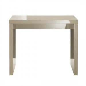 Puro Wooden Console Table In Stone High Gloss