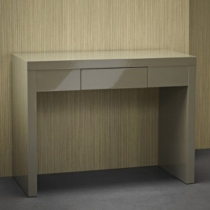 Puro Wooden Dressing Table In Stone High Gloss
