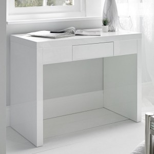 Puro Wooden Dressing Table In White High Gloss