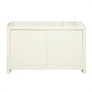 Puro Wooden Sideboard In Cream High Gloss With 2 Doors