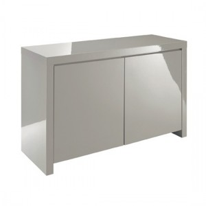 Puro Wooden Sideboard In Stone High Gloss With 2 Doors