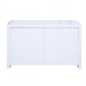 Puro Wooden Sideboard In White High Gloss With 2 Doors