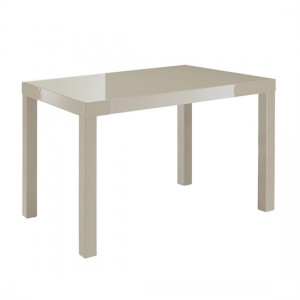Puro Wooden Small Dining Table In Stone High Gloss
