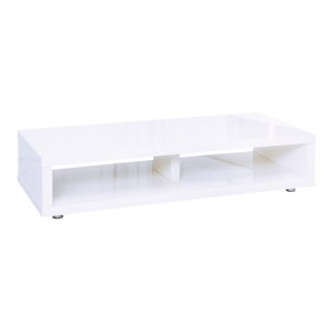 Puro Wooden TV Stand In White High Gloss