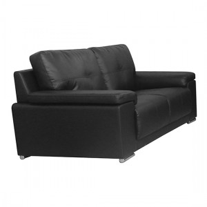 Ranee Leather And PU 2 Seater Sofa In Black