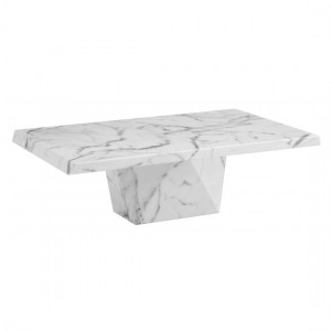 Rhine Marble Coffee Table In Natural Stone And Lacquer