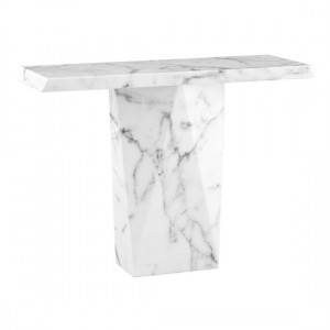Rhine Marble Console Table In Natural Stone